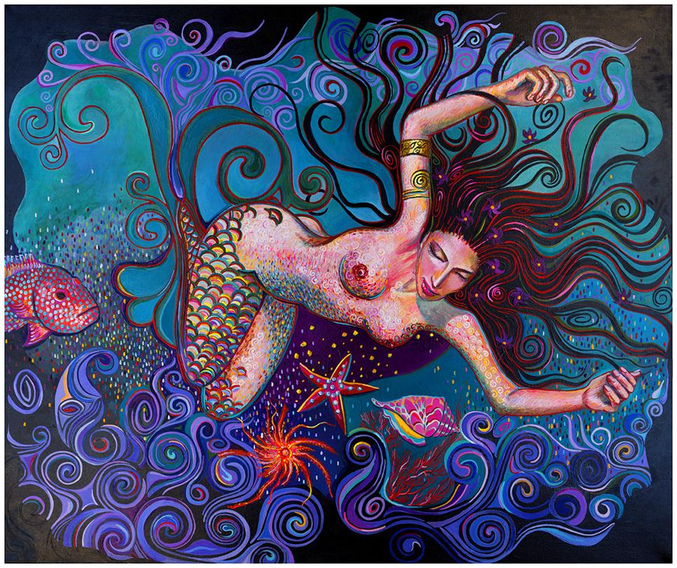 mermaid met krullenKlein